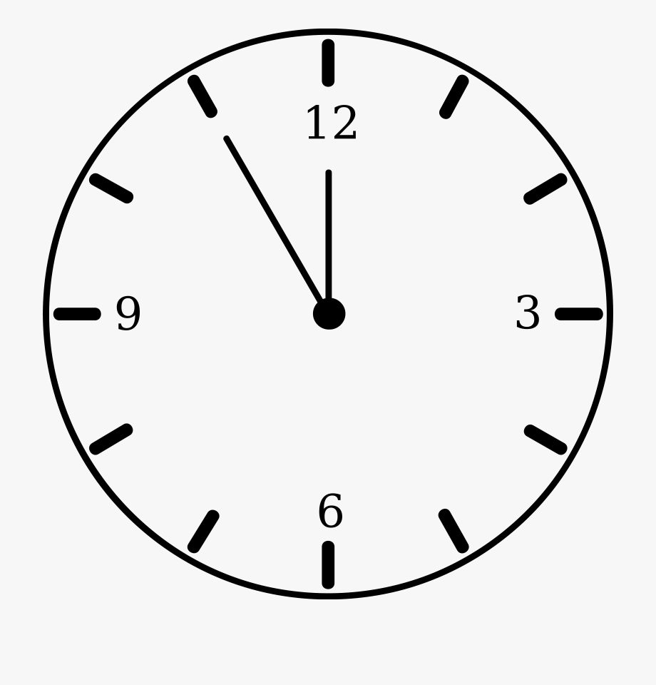 Clock Black And White Clipart.