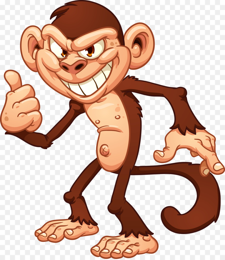 Monkey Cartoon png download.