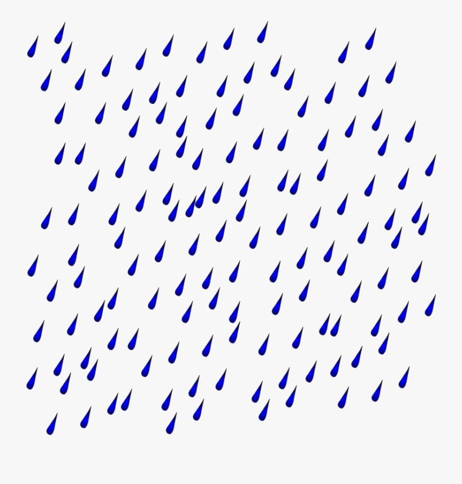 Transparent Raindrops Clipart.