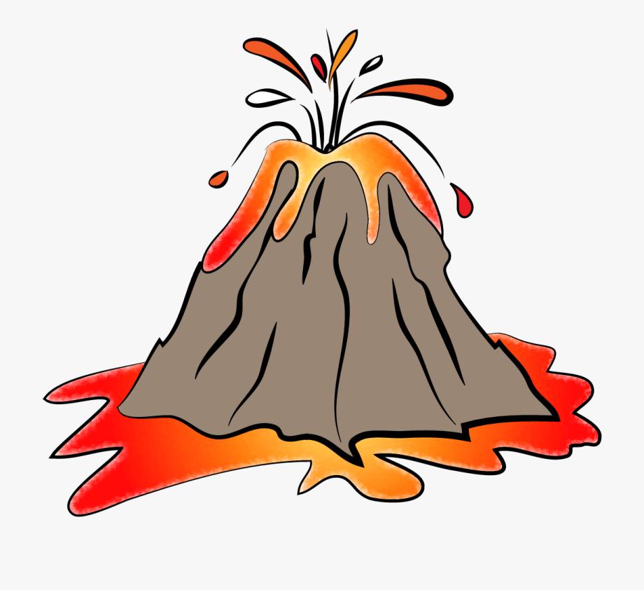 Animated Volcano Clipart.