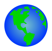 Rotating Earth GIF Animation Vector.