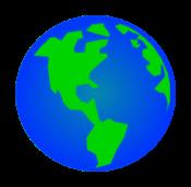 Rotating Earth GIF Animation Vector.