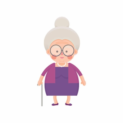 old lady , Free clipart download.