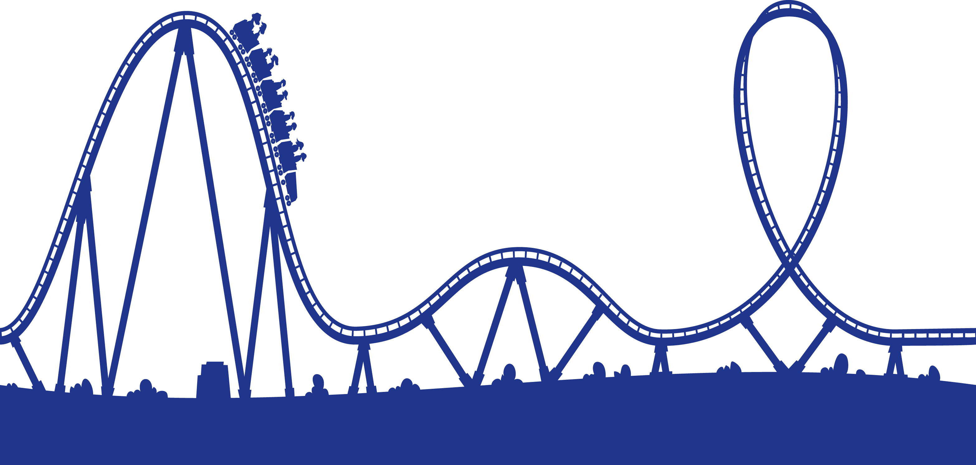 Roller Coaster Hill Clipart.