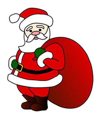 Animation clip art santa claus.