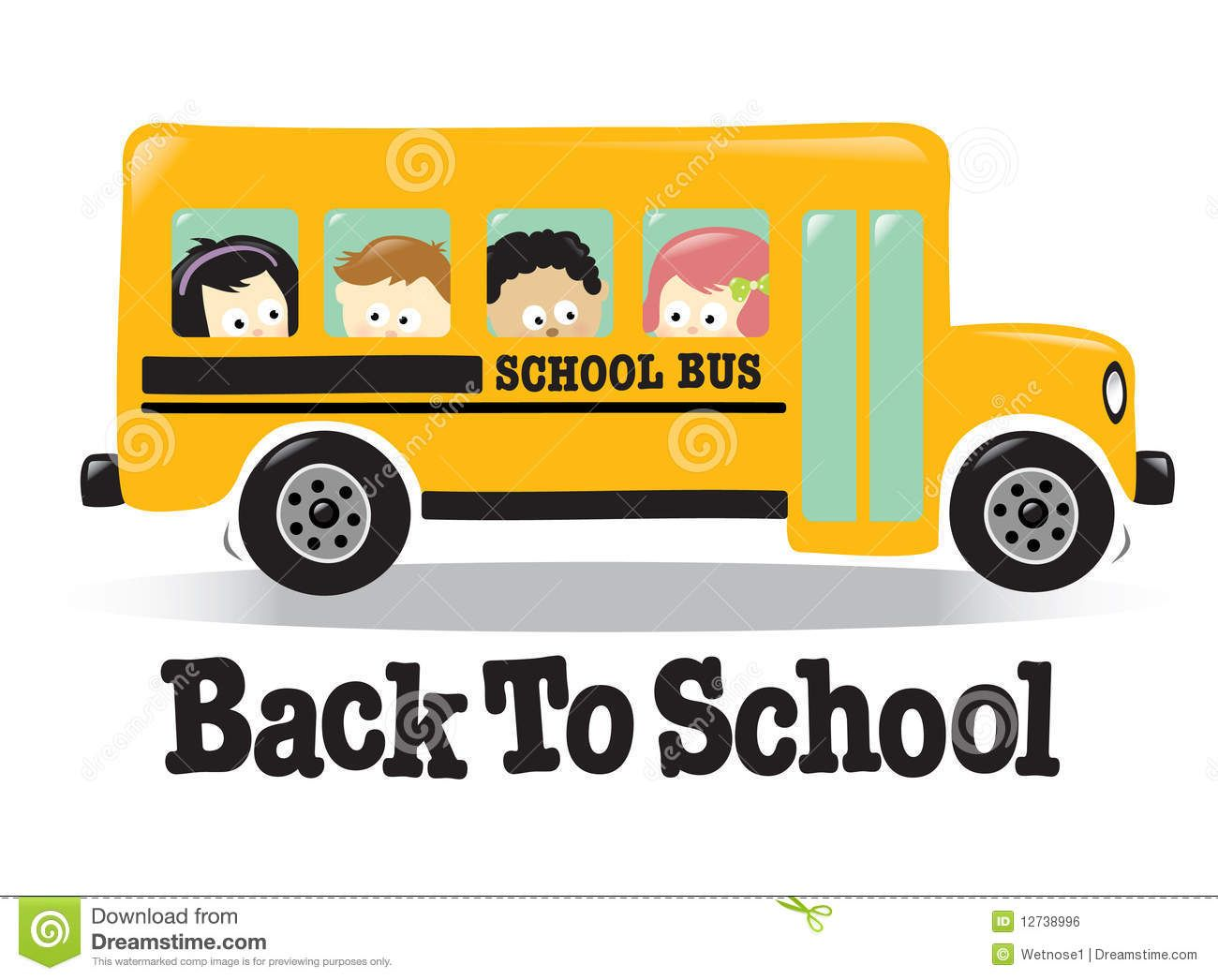 Free Animated Cute Back To School Clipart School Bus Pattern.