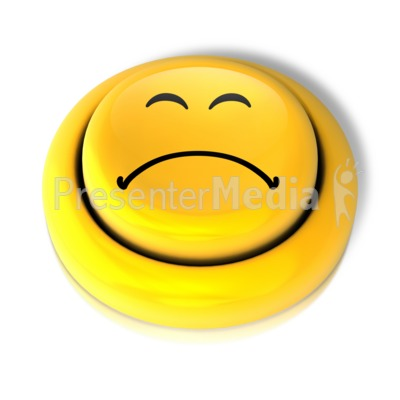 Smiley Face Sad Button.