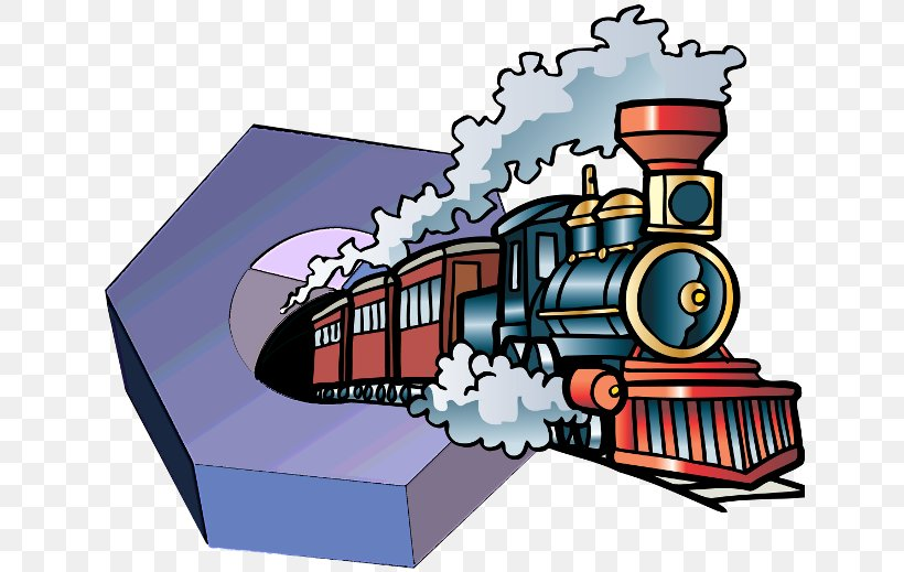 Train Rail Transport Clip Art Illustration Steam Locomotive.