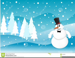 Animated Winter Scene Clipart.