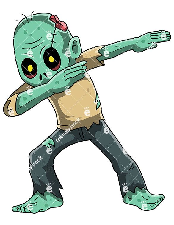 A Dabbing Zombie in 2019.