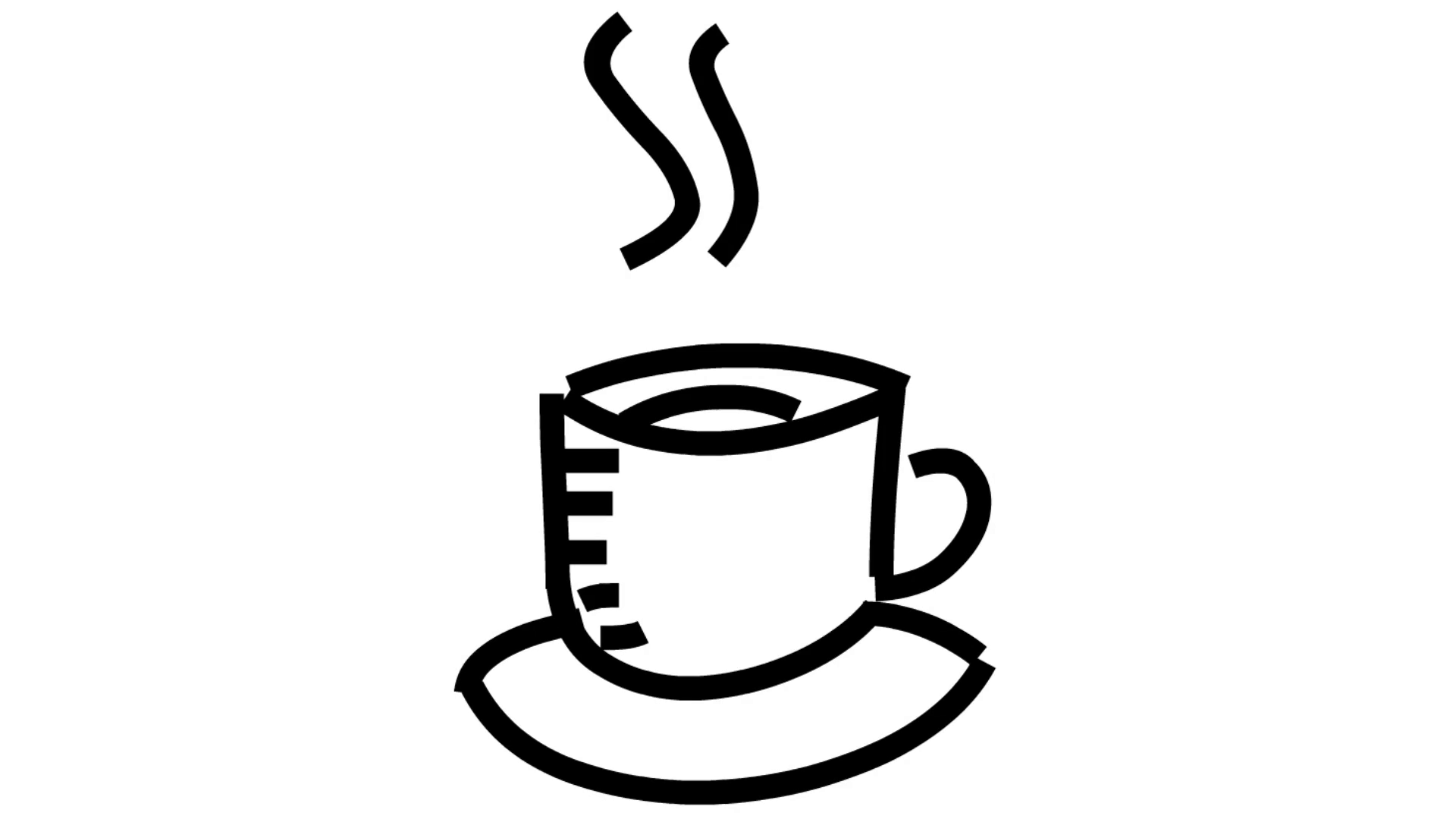 Coffee or Tea animation illustration hand drawing transparent background.