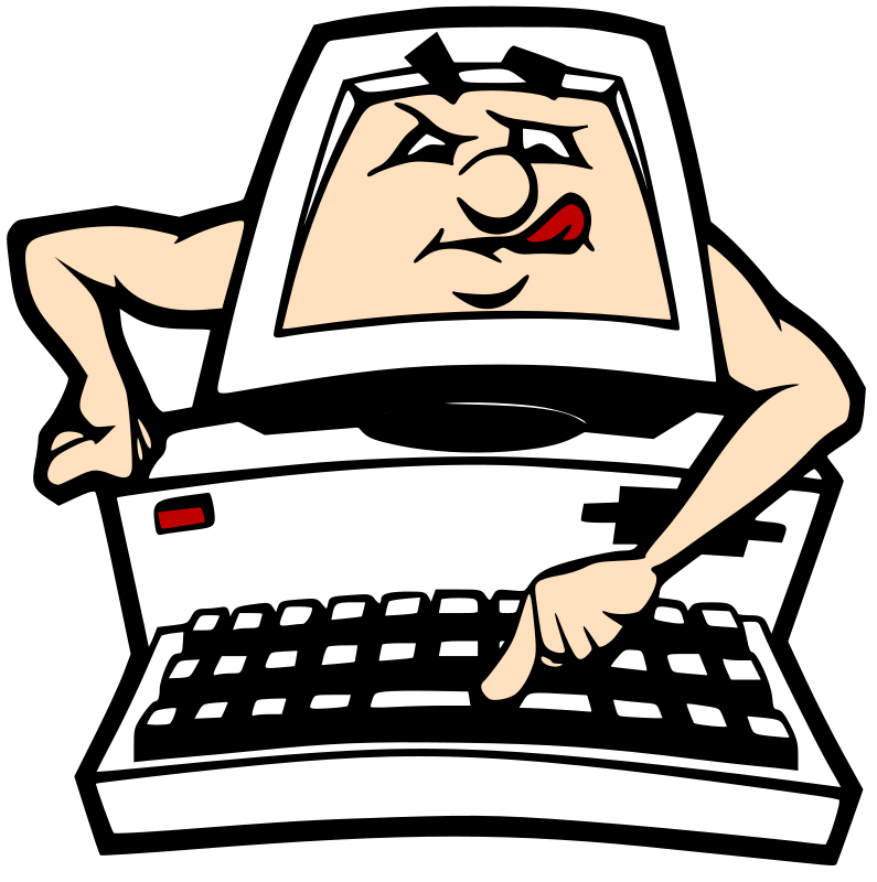 Animated Computer Clip Art free image.