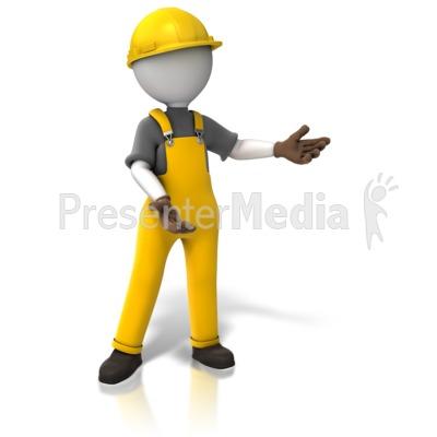 Construction Worker Display.