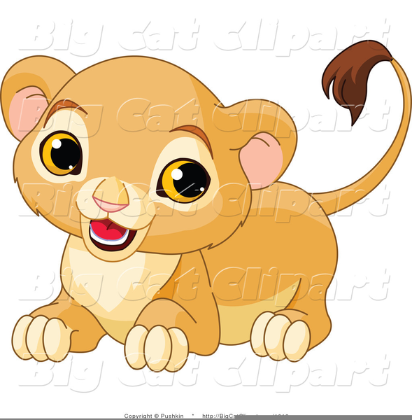Cougar Cub Cartoon Clipart.