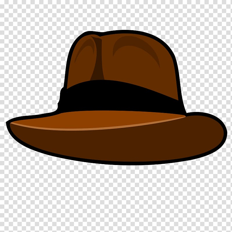 Brown and black hat hat, Hat Fedora , Cartoon Cowboy Hats.