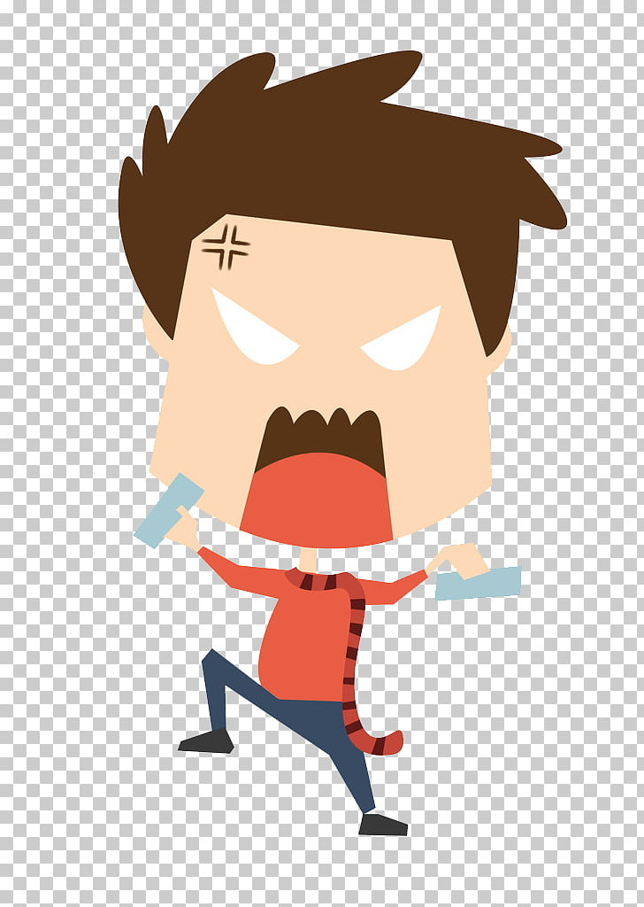 Cartoon , cartoon crazy teenager PNG clipart.