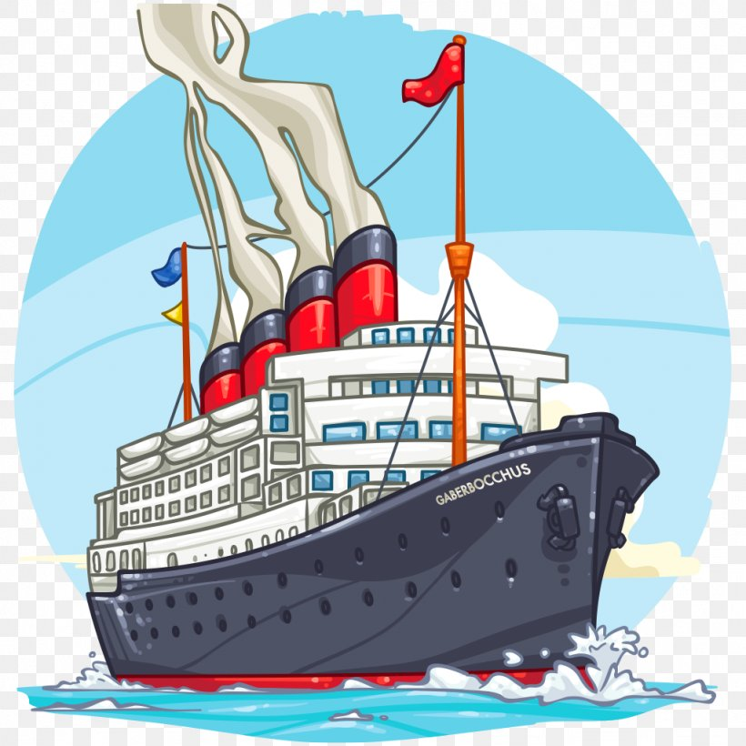 Ship Of The Line Cartoon Cruise Ship Boat, PNG, 1024x1024px.