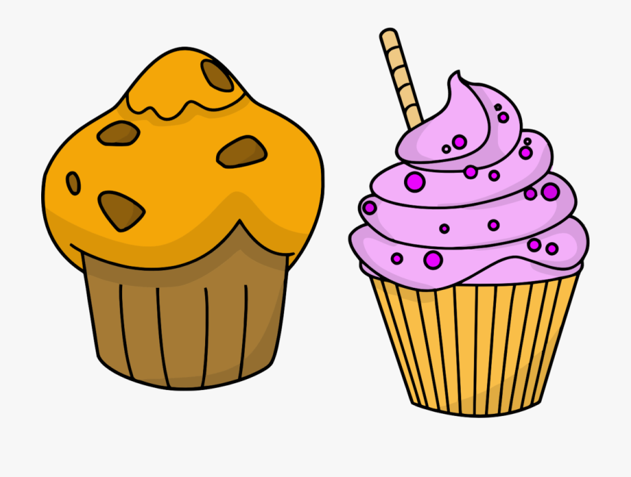 Muffin Clipart Cupcake Design.