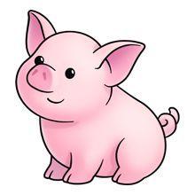 Cute Pig Clipart Free.
