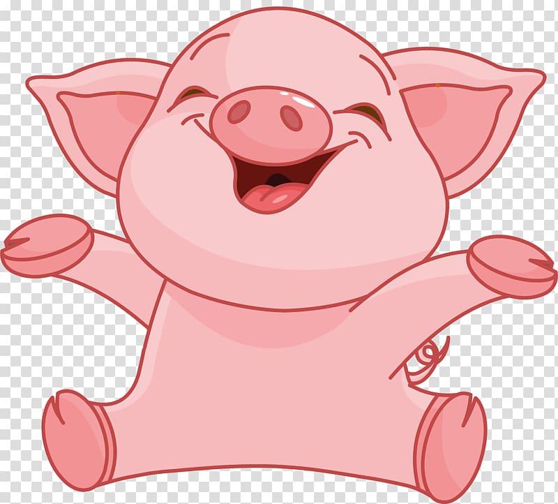 Piglet illustration, Domestic pig Cartoon , pig transparent.
