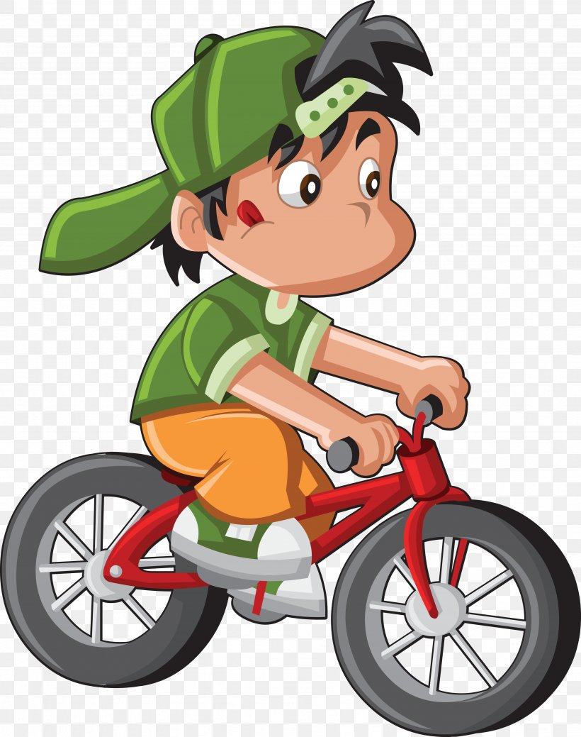 Bicycle Cartoon Cycling Child Clip Art, PNG, 4723x5987px.