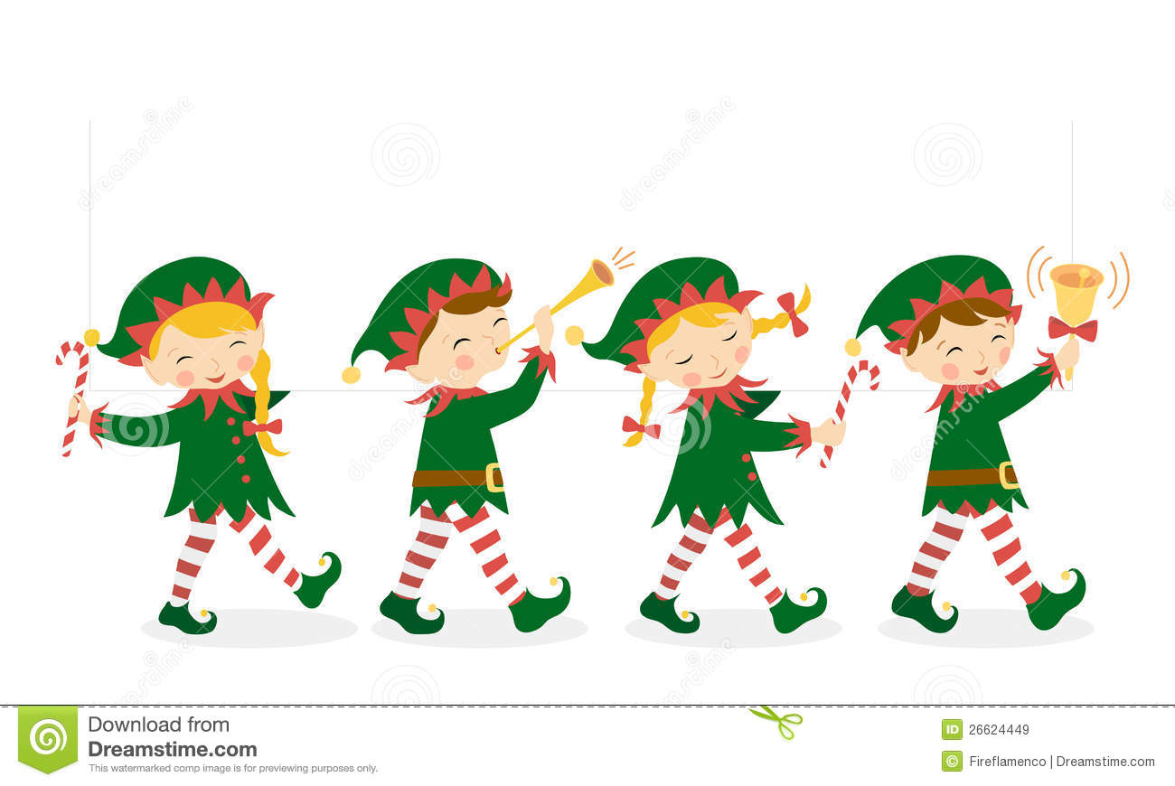 Holiday Elf Clipart.