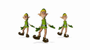 Animated Dancing Elf Clipart.