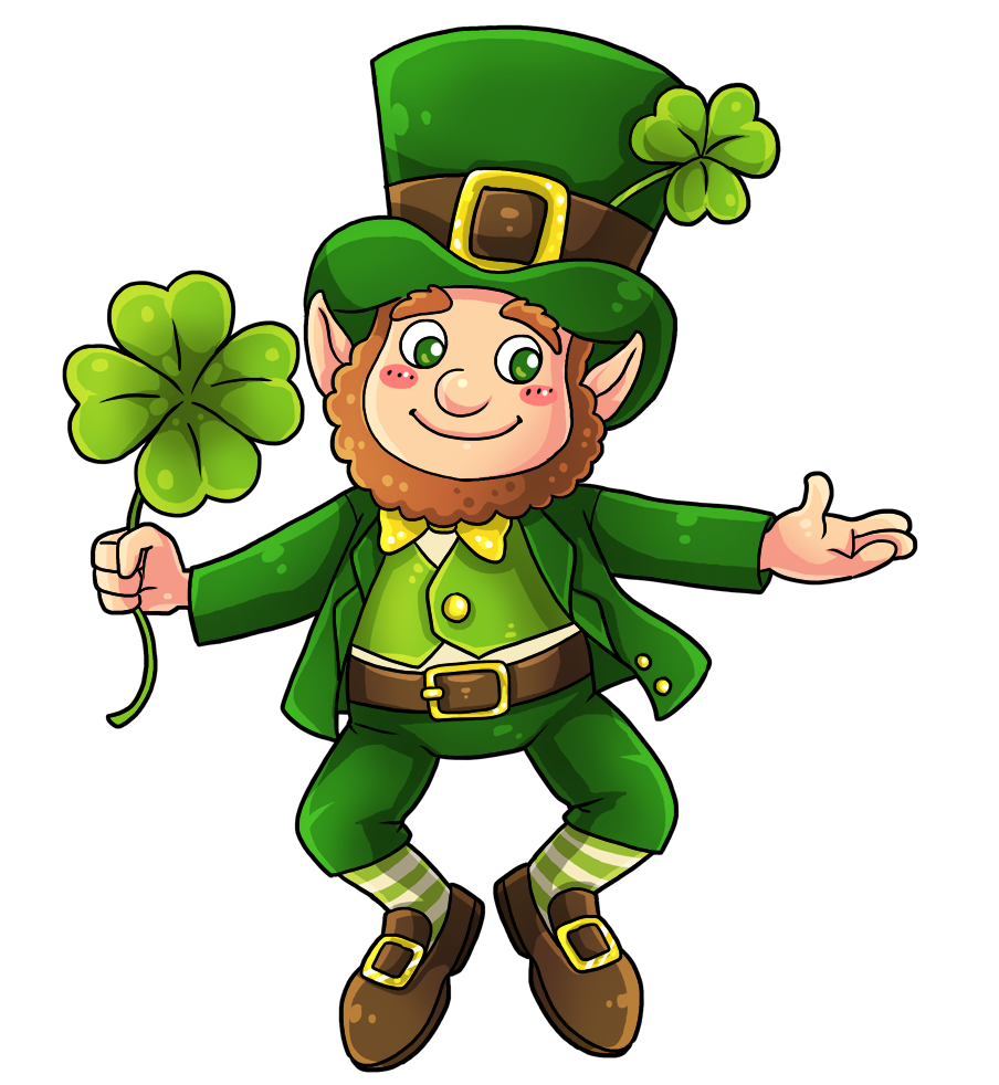 This cute and adorable leprechaun clip art is great for use.