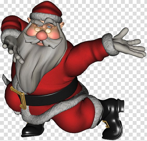 Santa Claus Dance Animation, santa claus transparent.