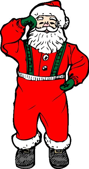 Dancing Santa Clipart.