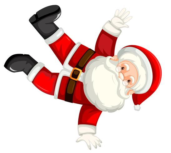 Break dancing santa clause.