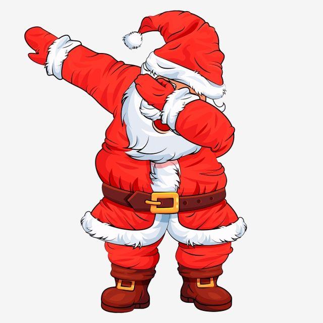 dance santa,christmas clipart,christmas,Santa Dabbing.
