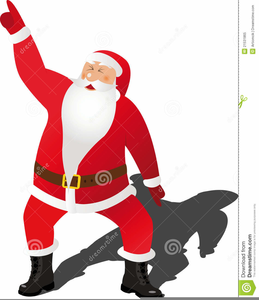 Animated Dancing Santa Clipart.