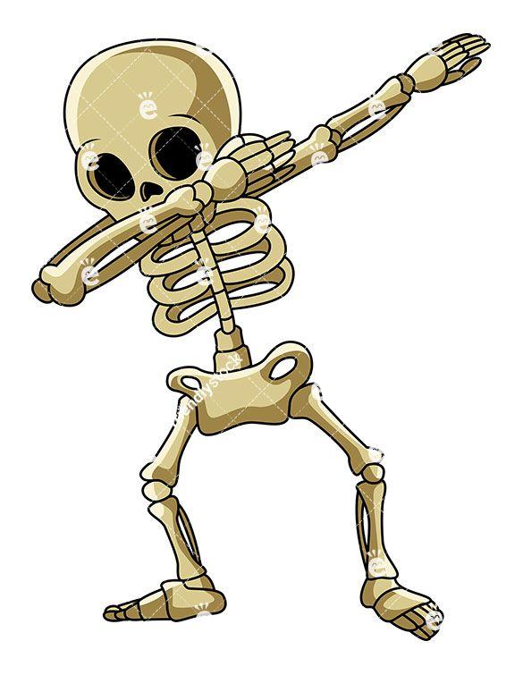 A Dabbing Skeleton in 2019.