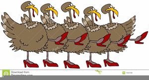 Animated Dancing Turkey Clipart.