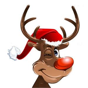 Animated Christmas Reindeer Clipart.