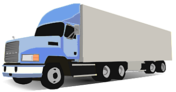Animated truck clipart.