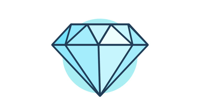 Diamond Rotation 360 Degrees. Looped Stock Footage Video (100%  Royalty.