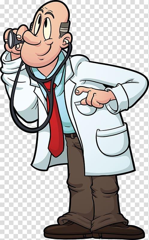 Physician Stethoscope Cartoon Dentist, Doctors work.