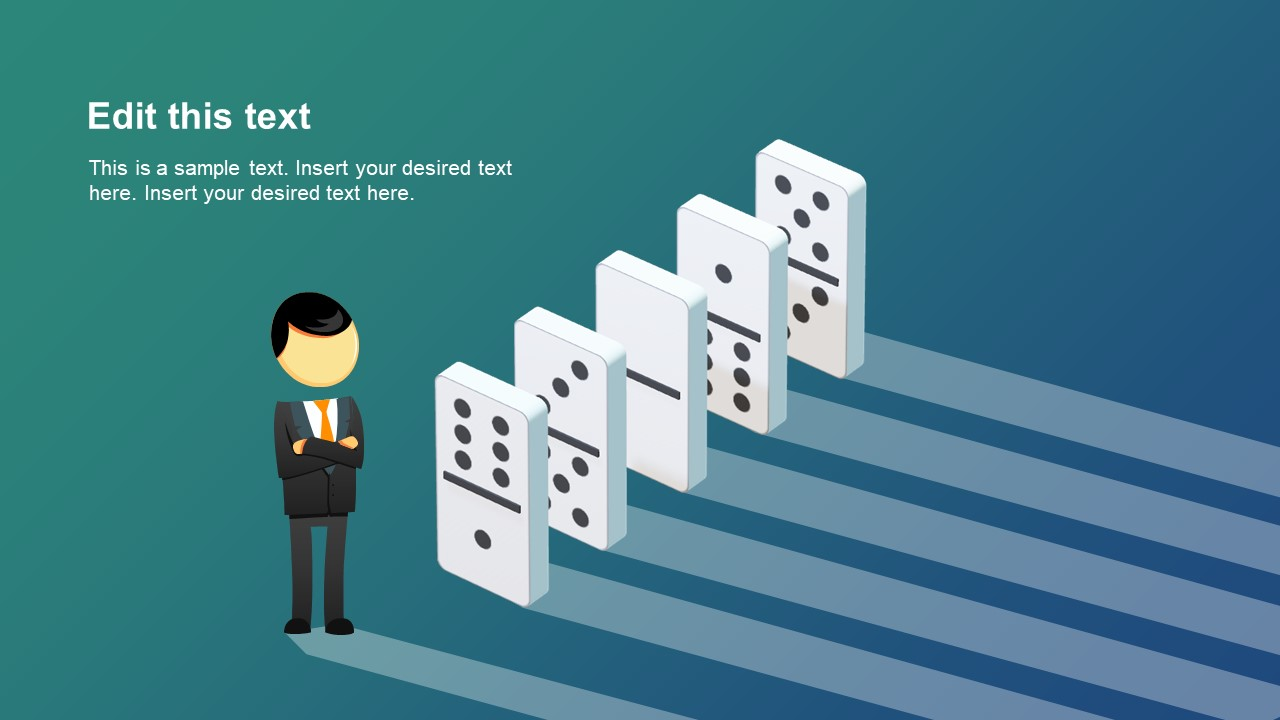Isometric Domino PowerPoint Design.