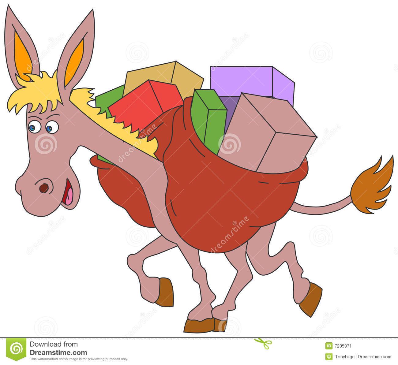 Animated Donkey Stock Illustrations.