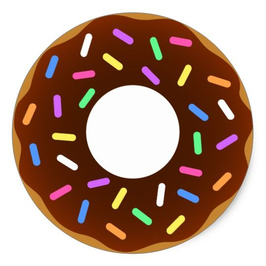 Animated Donut Design Classic Round Sticker.