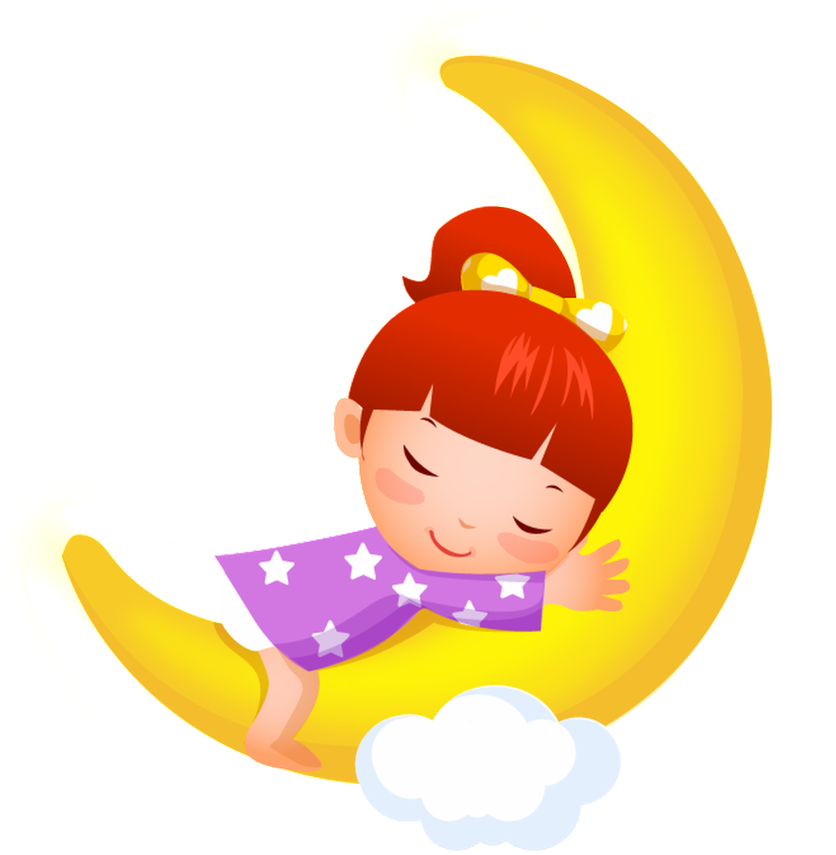 Sleeping Little Girl Cartoon Transparent.