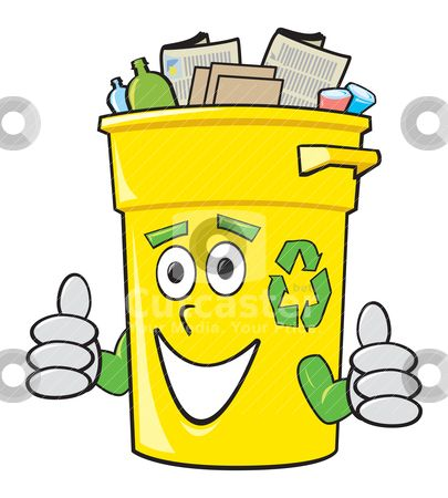 Cartoon Recycling Bin.