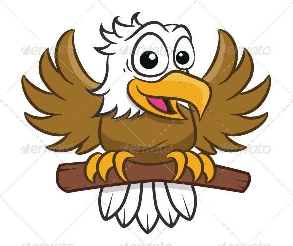 Friendly Eagle Clipart.