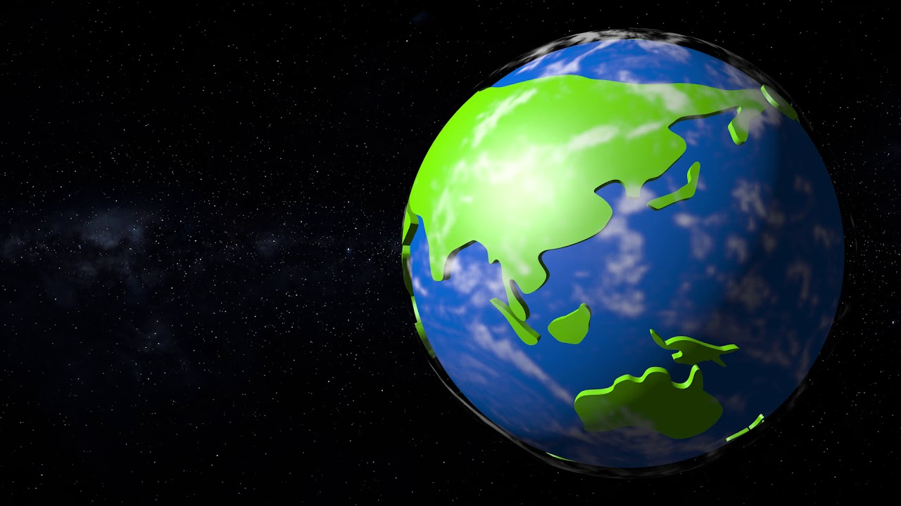 Cartoon Clipart Earth Rotation.