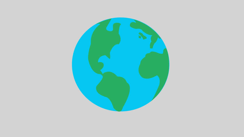 Earth Logo Icon Animation. Png+alpha. Stock Footage Video (100%  Royalty.