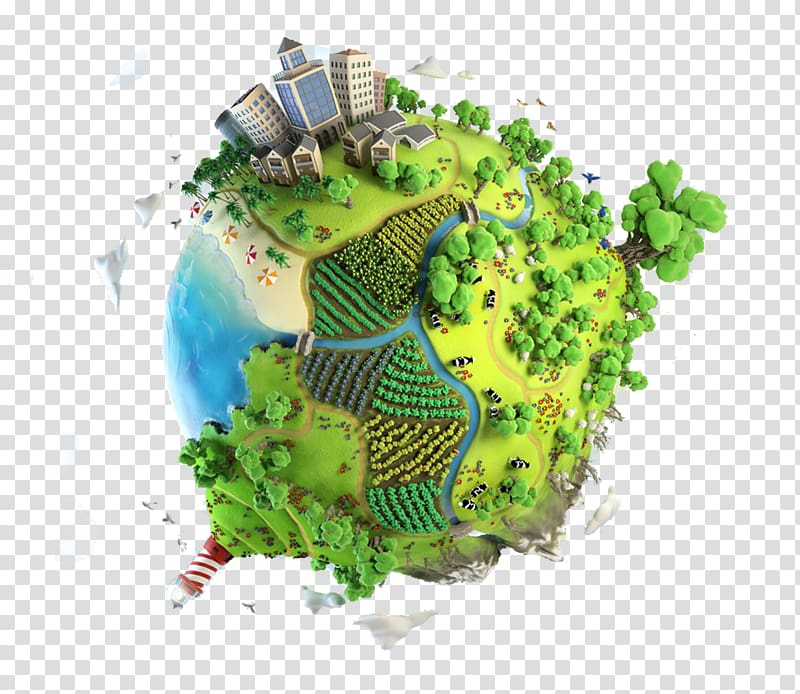 City and ocean themed earth animated , Earth , Earth, Green Earth.