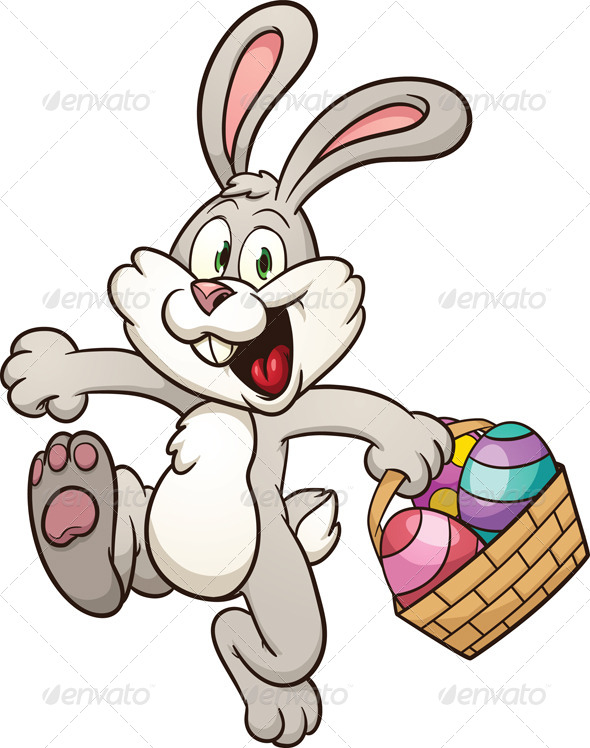 Animated Easter Bunny Clipart.