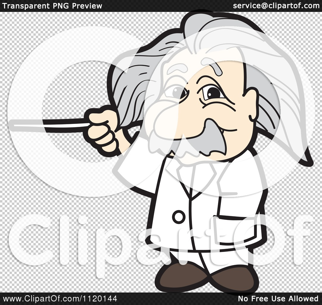 Cartoon Of An Albert Einstein.